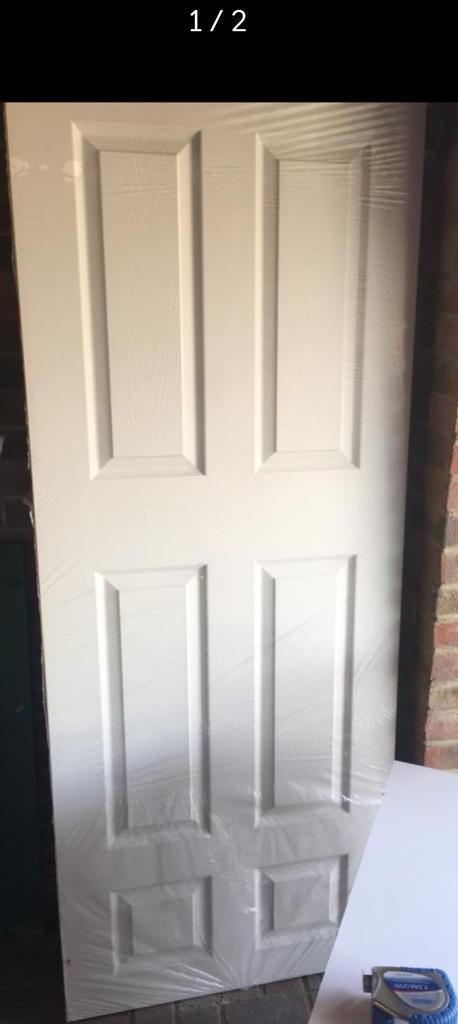 6 panel white door NEW