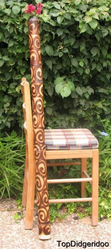 "47""120cm DIDGERIDOO+Bag+Beeswax-Mouthpiece Burns Roast Native Aboriginal Art"