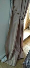 Fully lined extra long faux silk curtains