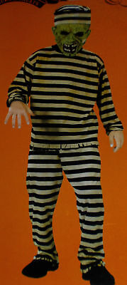 New Convict Prisioner Zombie Dress Up Costume 4-6X boys HALLOWEEN COSTUME ()