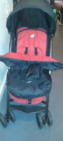 Joie stroller pushchair with footmuff & raincover