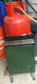 Lifestyle greenhouse heater and cylinder.