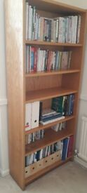Tall sturdy wooden bookcase shelves adjustable