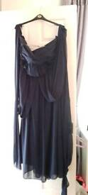 Navy blue bridesmaids dress is size 24