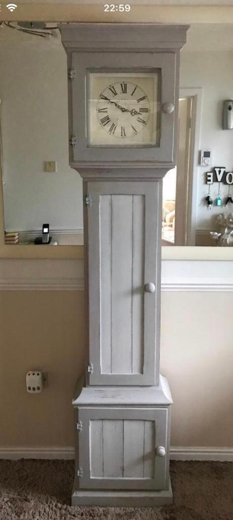 Upcycled Shabby Grandfather Clock Cupboard In Plymouth