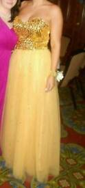 Gorgeous golden formal/prom dress ono
