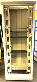 Server Cabinet used for server switch telephone system hard drive storage with builtin 8 plug socket