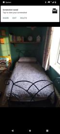 Good quality metal frame single bed