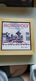 Parker Brothers Nostalgia Edition Monopoly Game in Wooden Box 2003