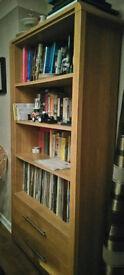 Argos Heart of House 3 shelf 2 draw Bookcase Oak Effect - Excellent condition