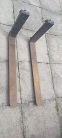 FORKLIFT FORKS PAIR ( Good Condition ) COMPLETE