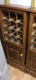 Pine Wine Rack Cabinet
