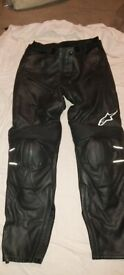 Alpinestars Leather Trousers - size 42 (roughly 30/32 inch waist)