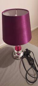 Purple shade lamp good condition £5