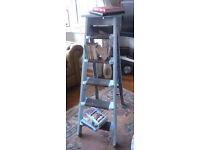 Vintage Edwardian solid wooden ladder - boocase/shelf/display - shabby chic