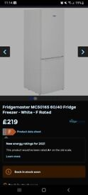Fridge freezer brand new never used 215 brand new woumd line close to 130 to 150 please.