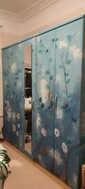 Painted wardrobe