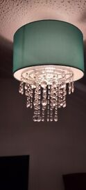 Duck egg lamp shade with clear droplets good condition £20
