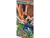 110mm underground drainage pipe offcuts and various fittings