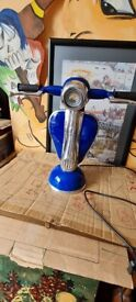 lovely table light in form of Vespa