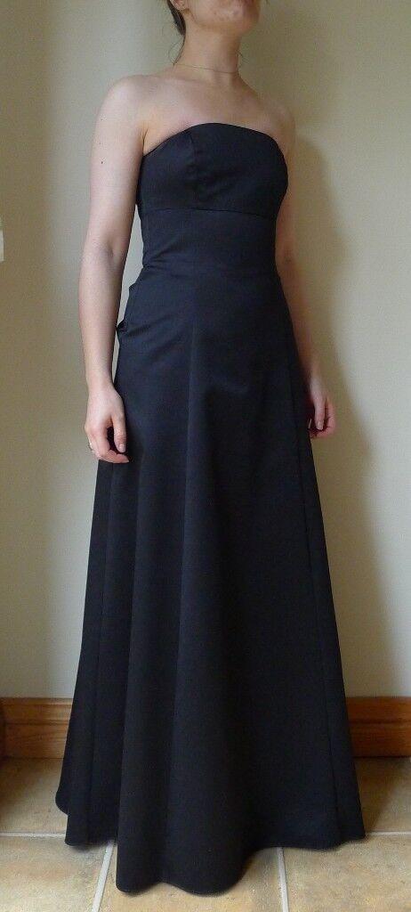 DEBENHAMS Black Tie Christmas Prom Formal Evening Dress Long ...