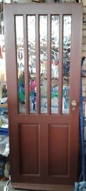 Hardwood Outer Door, Half Glazed