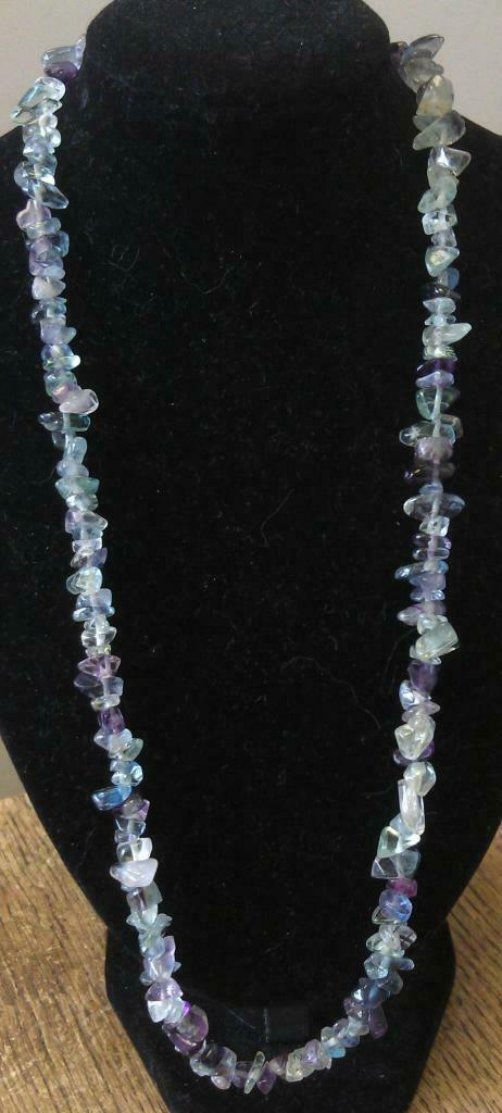 "Fluorite Chip Necklace 16"" to 34"", Long Necklace, Short Necklace"