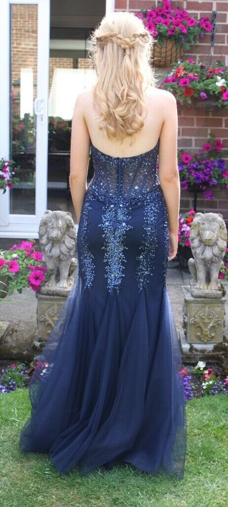 5b4c60d79d Navy Prom Dress Size 8 from Prom Frocks
