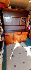 Beautiful Vintage Dark Oak Style Kitchen Dresser