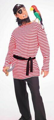 te Striped PIRATE Clown Mime Shirt Costume Outfit (Mime-shirt)