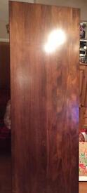 Wooden mahogany worktop / bar Very heavy 76.5 inches high ( 6 foot +)