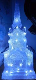 Christmas LED Lamp shaped like a church
