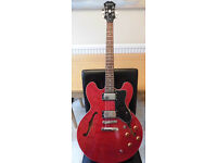 Epiphone Dot Semi-Acoustic Electric Guitar (2008) in Cherry Red