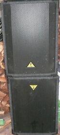 Behringer 200 watt Passive PA Speakers (2)