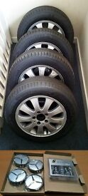4 x Original Mercedes A Class Alloys + Michelin Energy Saver Tyres + New Caps + Secure Locking Nuts