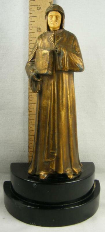 Vintage John Ruhl Gilveo Bronze Bookend                    Poet / Dante