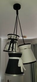 Fearne Cotton Hepburn Cluster Ceiling Light and floor lamp