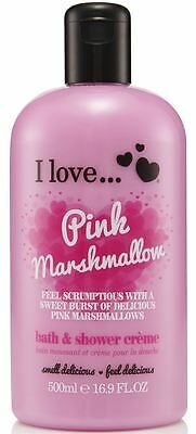 I Love... Pink Marshmallow Bubble Bath And Shower Creme 500ml
