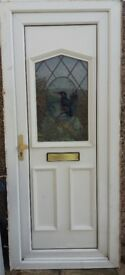 Front pvc door with frame good condition