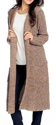 Drop Shoulder Knit Cardigan - NEW - Kate & Mallory® Sweater Knit Drop Shoulder Open Front Hooded Cardigan - M