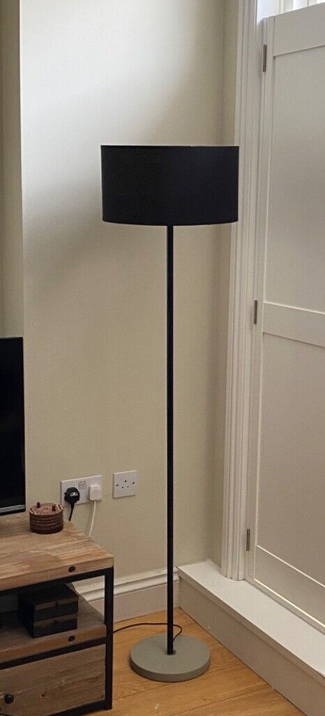 Floor Lamp with Black Shade | in Hove