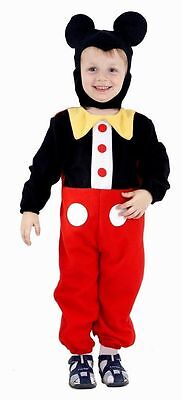 BOYS TODDLER KIDS MOUSE CLUB HOUSE FANCY DRESS COSTUME 2 - 4 YEARS 90 - 104CM