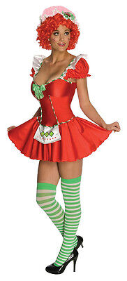 Adult Sexy Strawberry Shortcake Costume Halloween - Strawberry Shortcake Halloween Costume Adult
