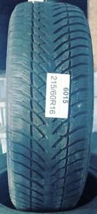 PNEUS HIVER USAGÉS / USED WINTER TIRES 215/60R16 21560R16 GOODYEAR EAGLE ULTRAGRIP (3 DE DISPONIBLES)