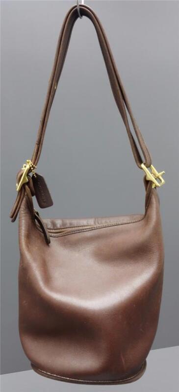 Coach Vintage 9953 Brown Leather Helen's Legacy Large Bucket Shoulder Handbag