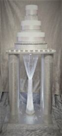 AMAZING TOTAL WOW FACTOR Large Wedding Cake Stand Led Light Up Crystal Chandelier Diamond trim