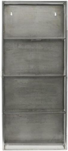 Wandkast Met Glas.Wandkast Zink Glas Metaal 35 X 15 X 80 Cm House Doctor