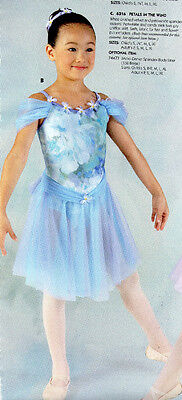 Floral Lyrical Ballet Costume Chiffon Skirt Violetta Child Sizes Headpc Incl