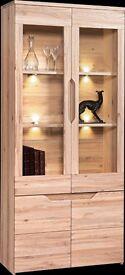 Solid oak glass cabiner