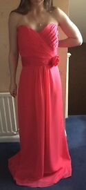 Pink Forever Yours Strapless Bridesmaid Dress - Size 16 - NWT